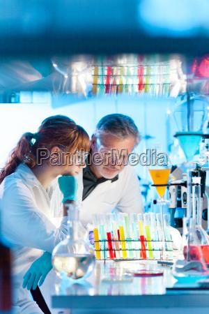 health care professionals in lab