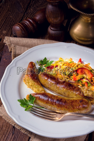 potato sausage from grated potatoes and