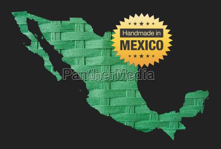 handgefertigt in mexiko qualitaet abzeichen