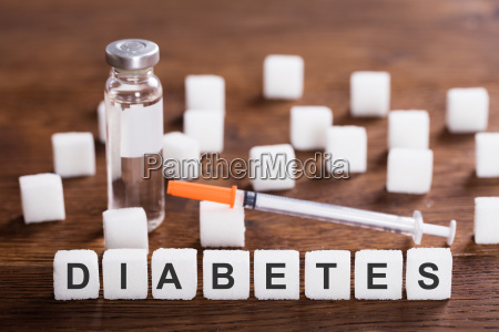 the word diabetes with insulin and