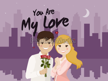 liebespaar auf ein romantisches date