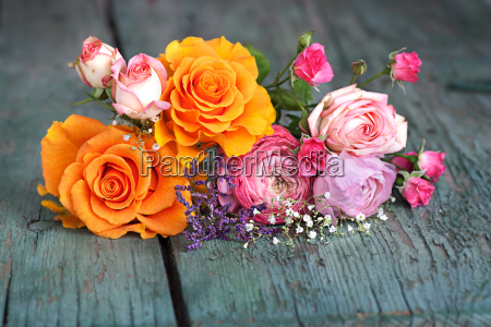 colorful flower decoration for a greeting
