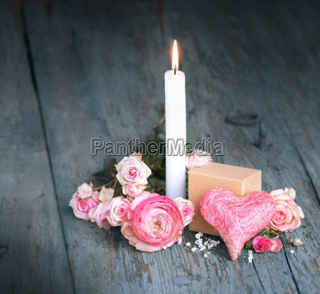 still life with candle for mothers