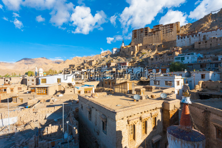 leh palace cityscape view houses h