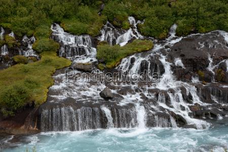 hraunfossar island