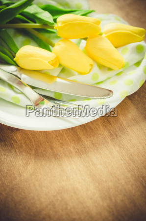 spring table setting for easter or