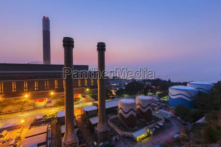 glow light of petrochemical industry