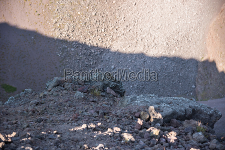 volcanic rock inside the crater of