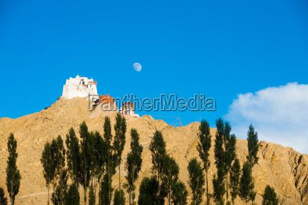 leh tsemo castle gompa moon mountaintop