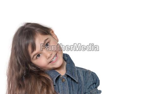 tilted head portrait of little girl