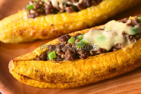 stuffed baked ripe plantain
