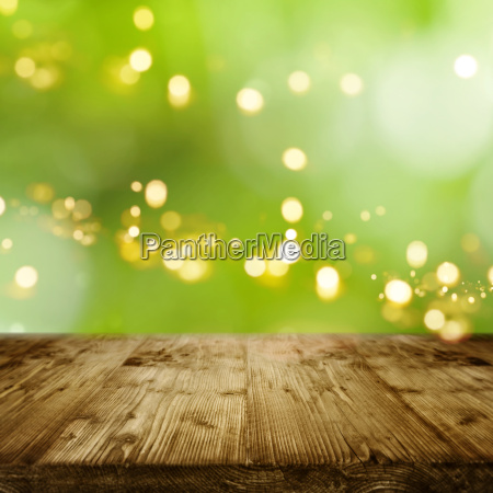 green background with bokeh and an