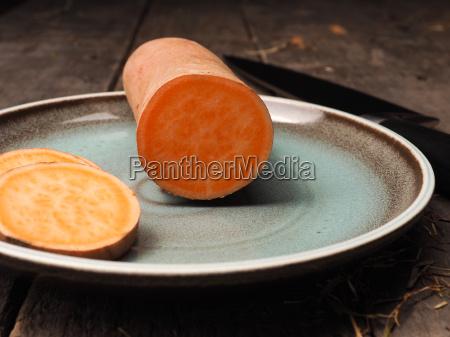 batata on a rustic plate