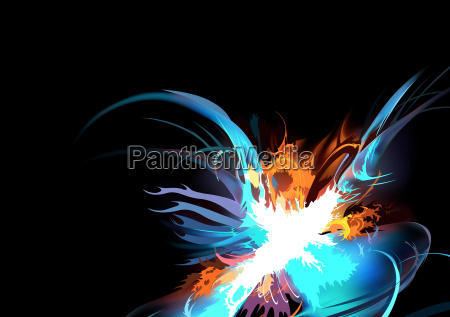 abstract colorful explosion