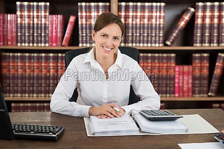 portrait of a successful female accountant