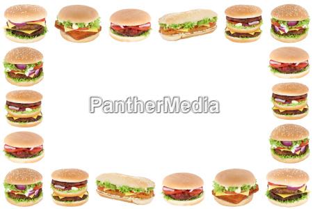 hamburger cheeseburger fast food rahmen textfreiraum