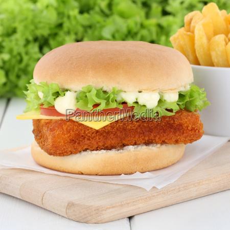 fischburger fish burger fried fish hamburger