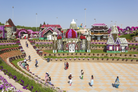 visitors at the miracle garden in