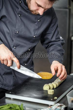chef schneiden verbindung butter