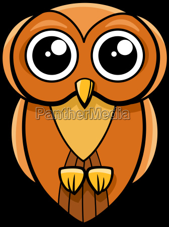 cute owl animal character