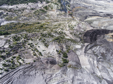 coal mine in poland destroyed land