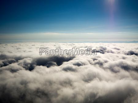 beautiful sea of fog landscape