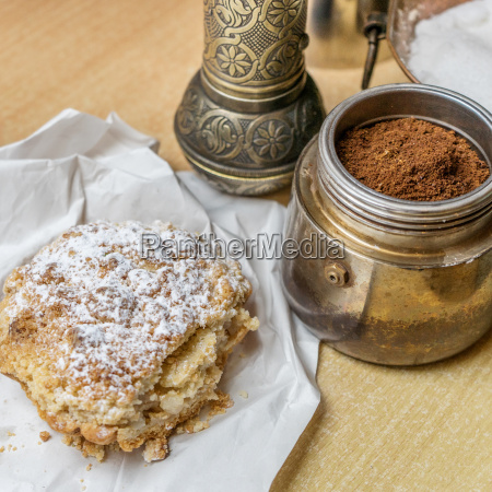apple pie and freshly ground coffee