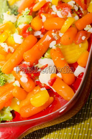 tasty boiled vegetables