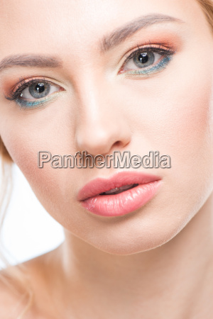 close up portrait of young sensual