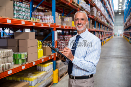 business man is smiling during his