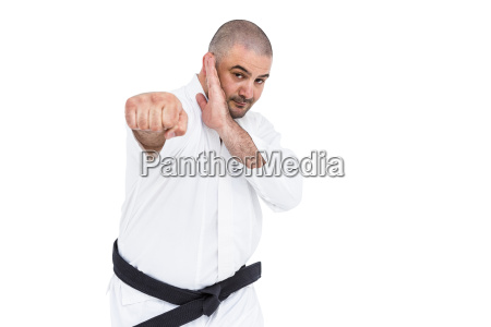 fighter performing karate stance