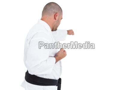 fighter, performing, karate, stance - 20406943