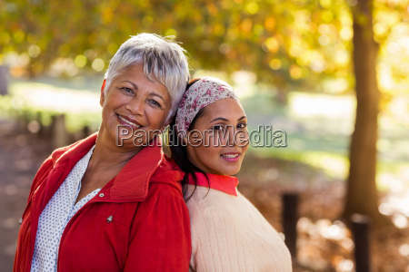 portrait of mature mother with daughter