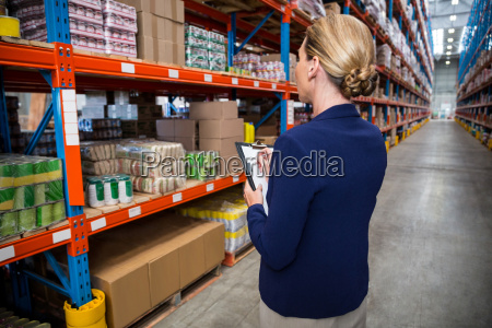 business woman is concentrating during her