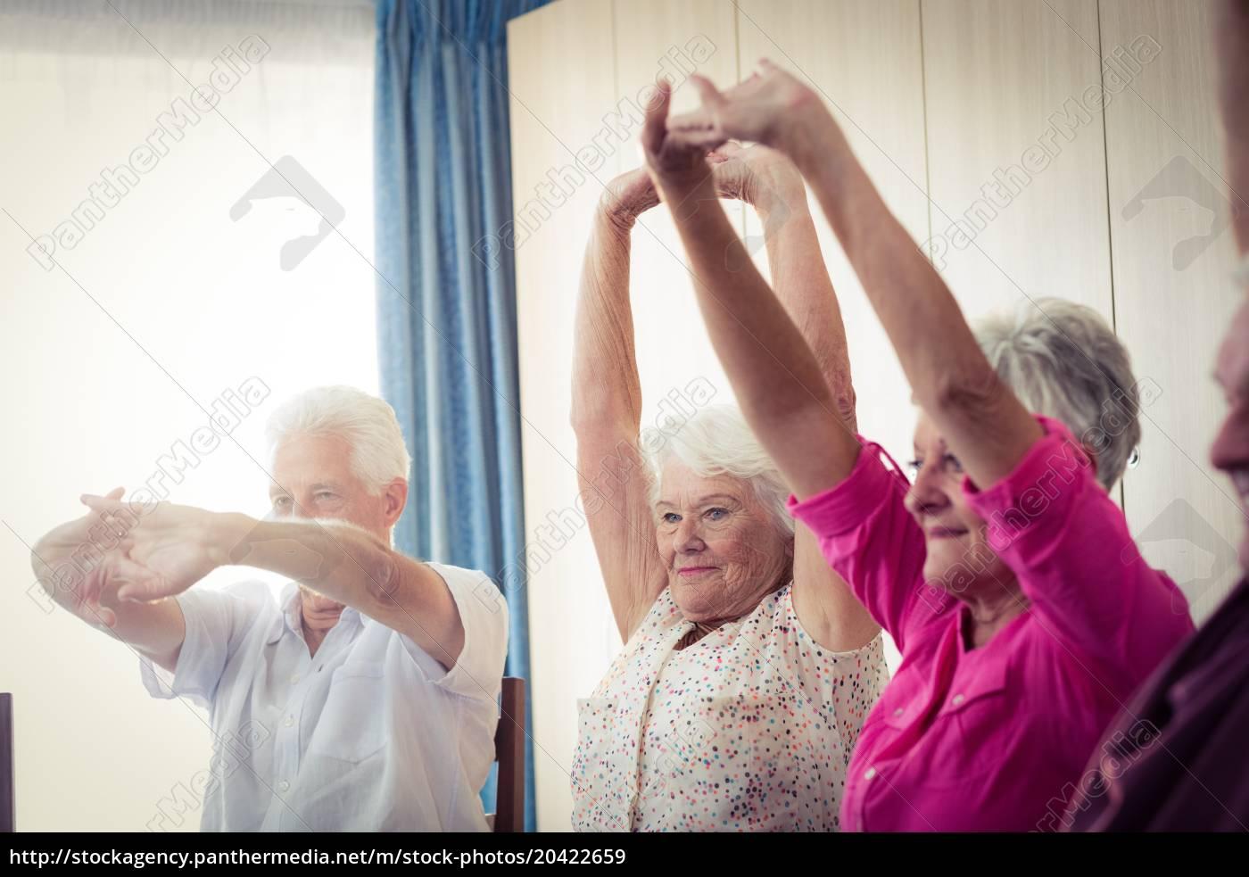 senioren, machen, übungen - 20422659