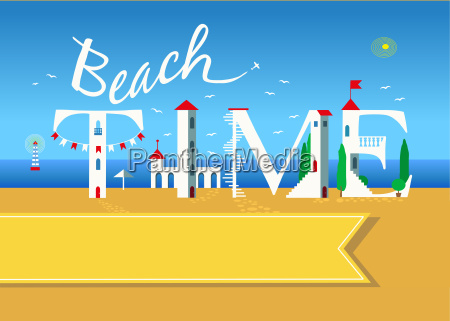 beach time travel card