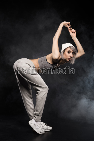 side view of woman in sports