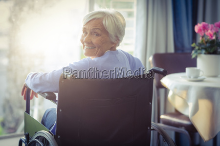 portrait of smiling senior woman senior