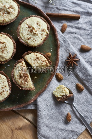 vegan muffins with millet pudding