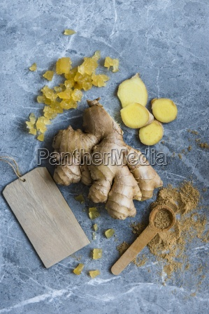 different types of ginger fresh grounded