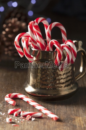 christmas candy cane in a traditional
