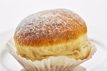 donuts mit puderzucker nahaufnahme