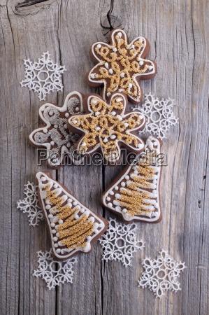 weihnachts lebkuchenkekse in form von sternen