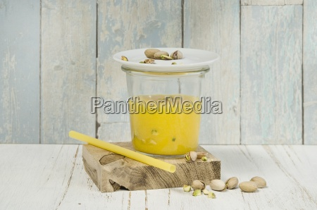 mango apple smoothie in a