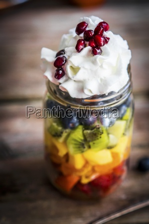 a colourful fruit salad in a
