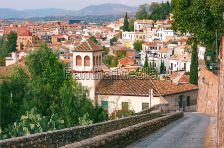 view of the old town granada