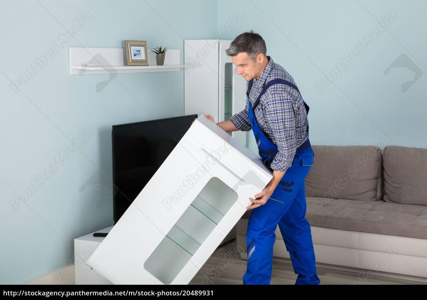 Mover Platzieren Möbel Zu Hause Stockfoto 20489931