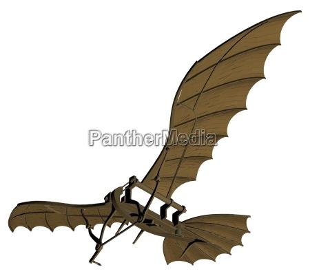 leonardo da vinci antique flying machine