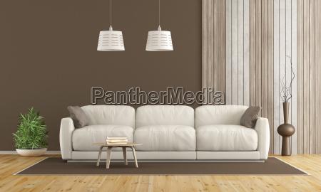 weisses sofa im modernen wohnzimmer