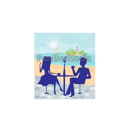 romantic date on a tropical beach